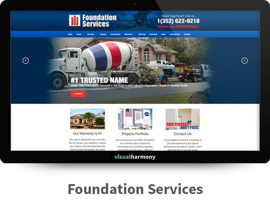 Foundation Services Responsive Website Design and Development Project Browser Mockup Image