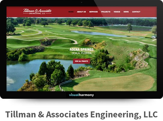 Tillman and Associates Engineering Responsive Website Design and Development Project Browser Mockup Image