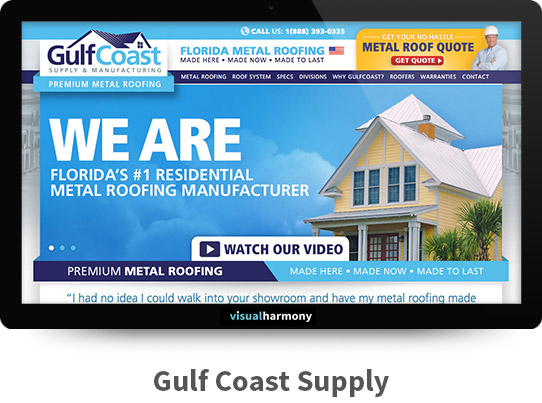 Gulf Coast Supply Responsive Website Design and Development Project Browser Mockup Image