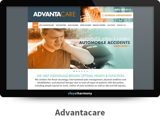 Advantacare Responsive Website Design and Development Project Browser Mockup Image