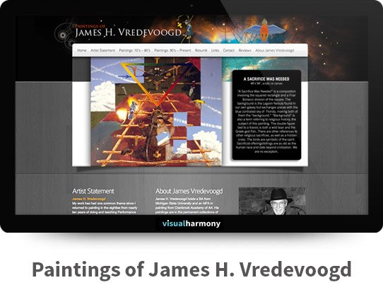 James H. Vredevoogd Responsive Website Design and Development Project Browser Mockup Image
