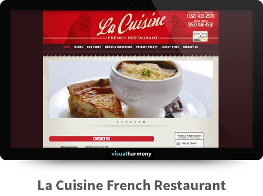 La Cuisine French Restaurant Responsive Website Design and Development Project Browser Mockup Image