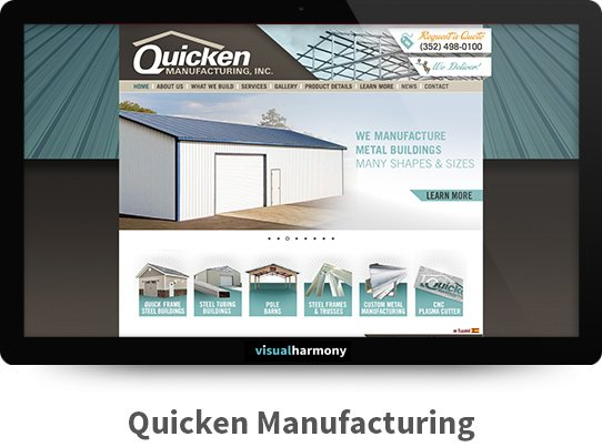 Quicken Manufacturing Responsive Website Design and Development Project Browser Mockup Image