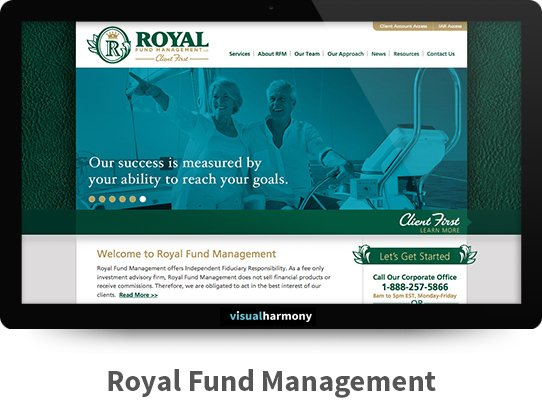 Royal Fund Management Responsive Website Design and Development Project Browser Mockup Image