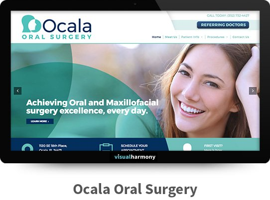 ocala oral surgery web project archive screen