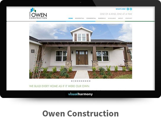 owen construction web project archive screen
