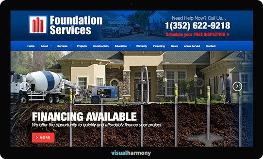 foundation services project screen responsive slider
