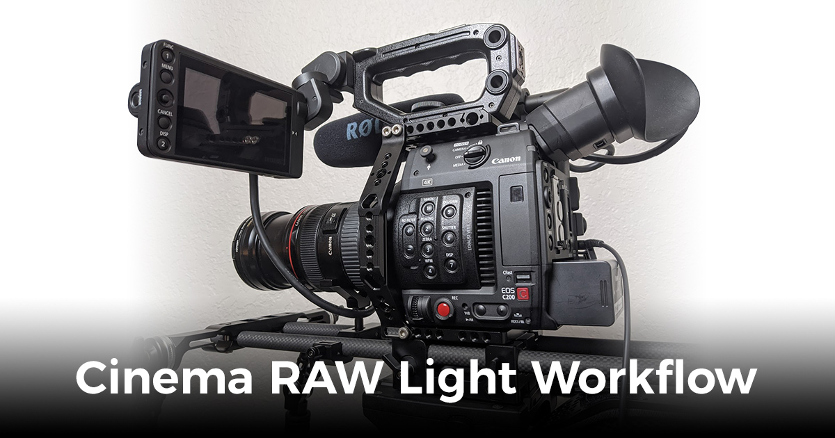 Cinema RAW Light Workflow by Visual Harmony